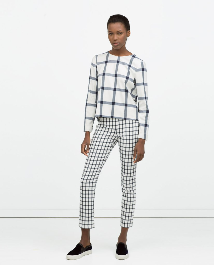 zara pants and shirt